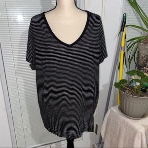 Torrid  Plus size 1, black and white striped tee